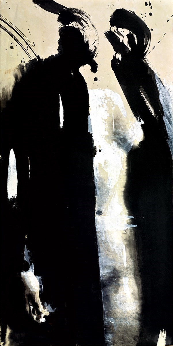 Kimono Negro IV by Christian Hook - Paper Edition sized 16x32 inches. Available from Whitewall Galleries